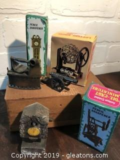 Lot of vintage die-cast pencil sharpeners