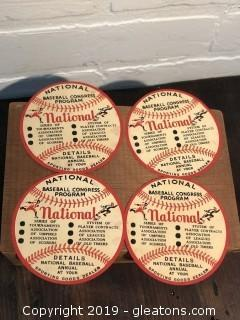Antique 1930's National Baseball Congress Program Decals A