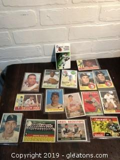 Lot of Vintage 1950's and 1960's Baseball Cards A