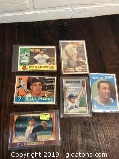 Vintage 1950's 1960's Baseball Cards Lot B