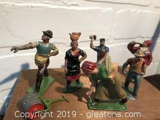Lot of French Die Cast Lead Figures
