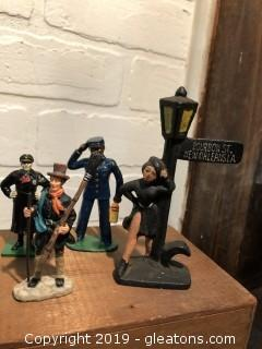 Lot of Misc Lead, Cast Iron and composite figurines