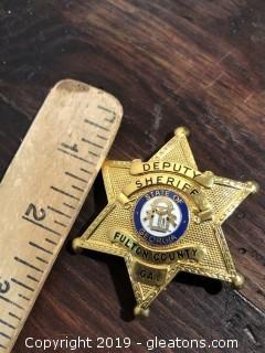 24kt  Karatclad Fulton County Deputy Sheriff Badge