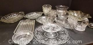 Large Lot of Crystal and Glass
