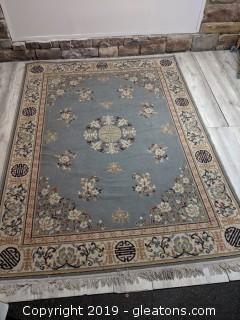 Oriental Floral Pattern Rug Cream/Gray
