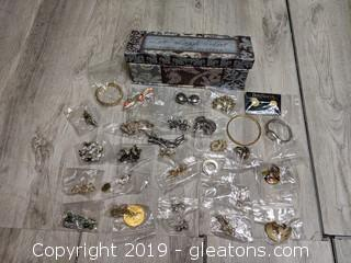 Vintage Lot Of Costume Jewelry