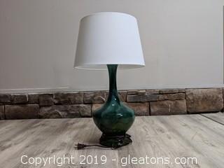 Mid Century Green Swirl Lamp