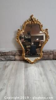 Vintage Gold Guilted Wall Hanging Picture Mirror