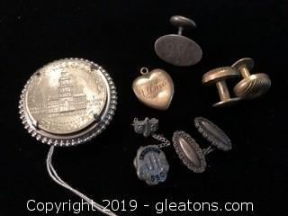 Lot of Vintage and Antique Misc Jewelry