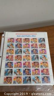 Stamps + Collectibles Legends Of American Music Series Rock + Roll/Rhythm + Blues