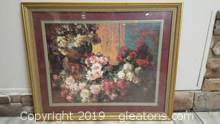 Large Nicely Framed Floral Print