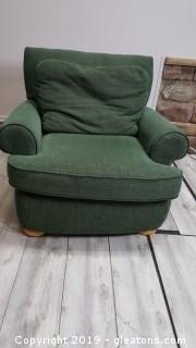 Hunter Green Gently Used Club Chair