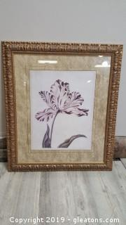 "Large ""Red Parrot Tulip"" Framed Print"