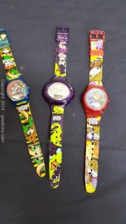 Vintage Set Of (3) 1998 Rugrats Movie Watches
