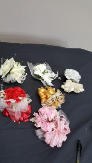 Lot Of (6) Sir Floral Corsage Handmade Vintage All Occasion
