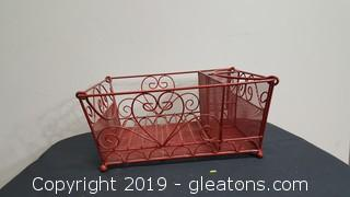 Wire Red Basket/Picnic