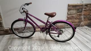 "Schwinn (Mifflin) Purple Bike ""Like New"""