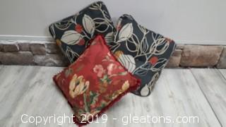 Set Of (3) Decorative Accent Pillows