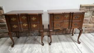 Very Nice Well Kept Vintage Pennsylvania House PR Of Side Tables With (2) Drawers