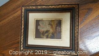 Framed Vintage/Antique Original On Copper Signed