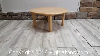 Small Round Wood Child's Table Great For Home/Day Care