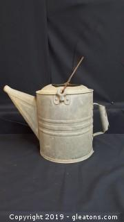 Vintage Decorative Galvanized Steel Watering Can Approx.