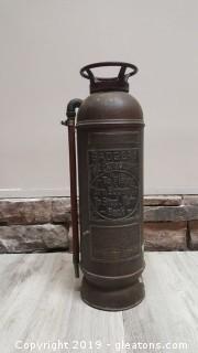 Vintage Fire Extinguisher Badgers