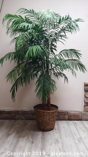 Large Silk Decorative Palm Tree