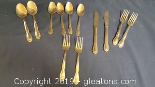 "Set Of Gold Stainless ""Garclyn"" Made In Korea"