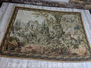 Cherubs In A Garden Beautiful Tapestry