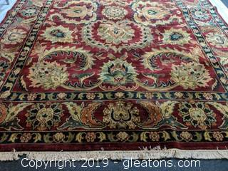 "Area Rug ""Plum Mahal"" Burgundy Green"