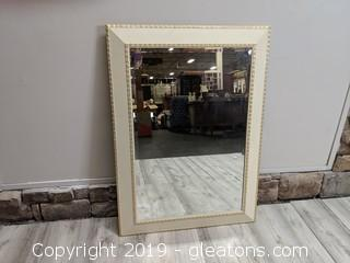 Large Cream Mirror Ready To Hang