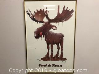 "Framed Print Of ""Chocolate Mousse"" Signed"