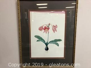 Framed Flower Print