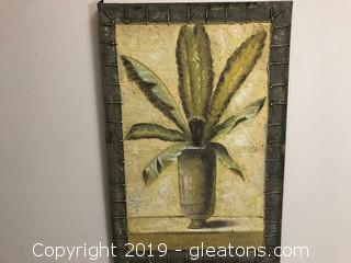 Painted Plant Canvas