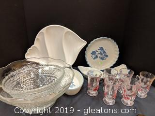 Box Lot BakeWare GlassWare