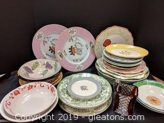 Box Lot Fun Mix Of Misc Dishes