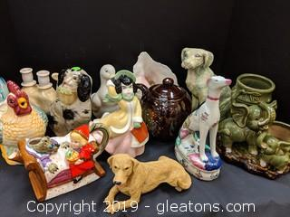 Box Lot Ceramic Figurines