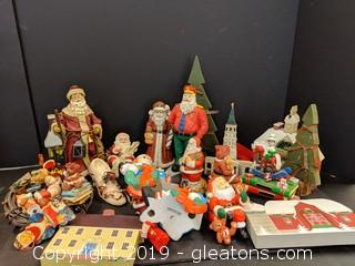 Box Lot Christmas Statues and decor