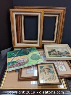 Box Lot Artwork Mostly Framed