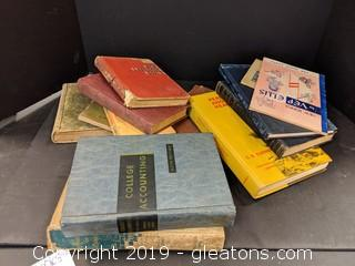 Box Lot Books Vintage