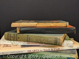 Box Lot Vintage Books Some Antique Some New