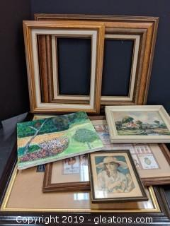 Box Lot Art Work Mostly Framed