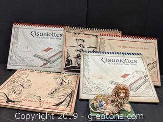 Box Lot Vintage Bible Story Teaching Aids