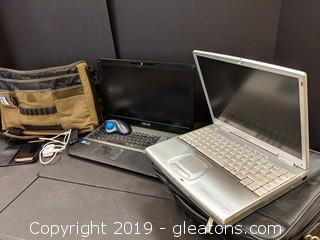 Box Lot 2-Laptops W/Bags
