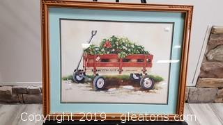 Golden/Wagon Well Framed Matted Wall Art