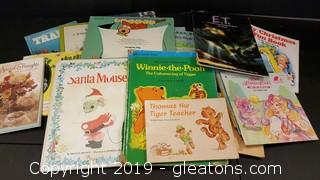 Lot of Vintage Children Books, Some Walt Disney, E.T., Thomas the Tiger