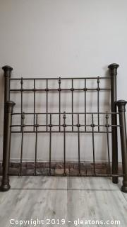 Very Nice Spindle Metal Frame Bed Queen