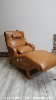Mid Centry Caramel Color Leather Lounge/Massage Chair/Vintage