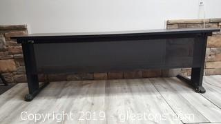 Large Wide Metal Desk/Work Table (2)
